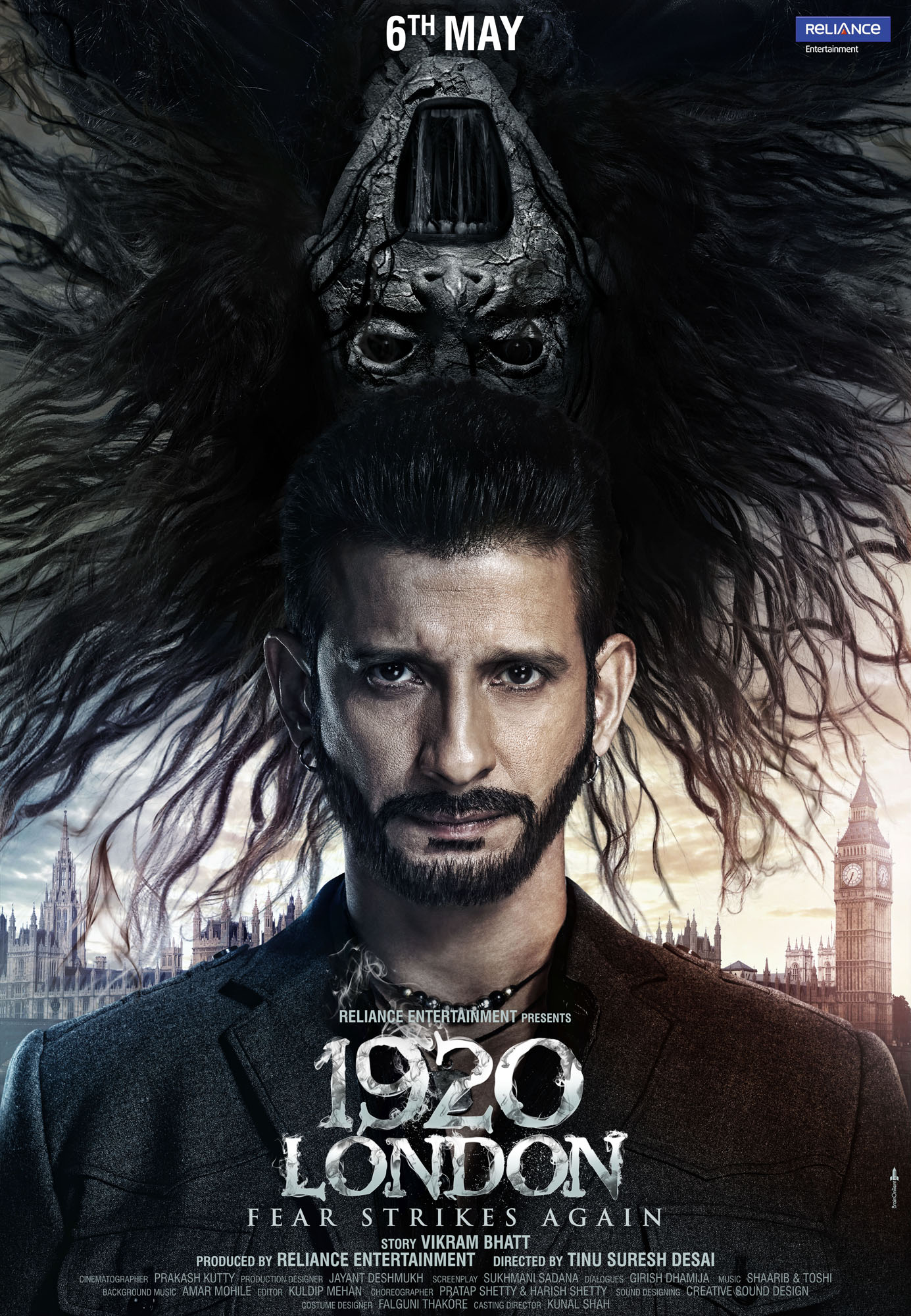 Poster: 1920 London starring Sharman Joshi and Meera ...