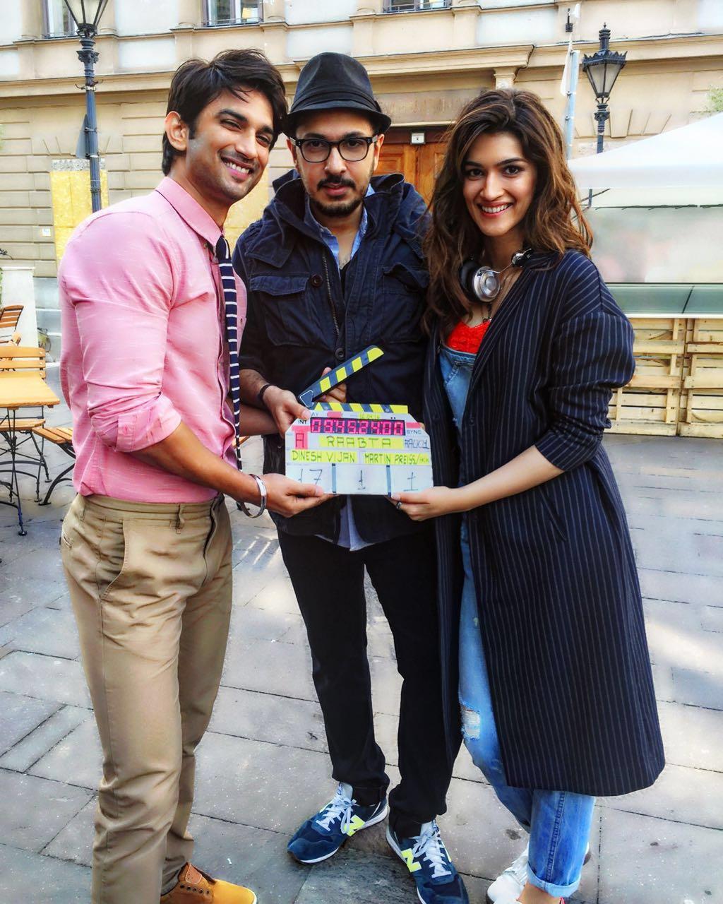 Sushant Singh Rajput, Dinesh Vijan and Kriti Sanon