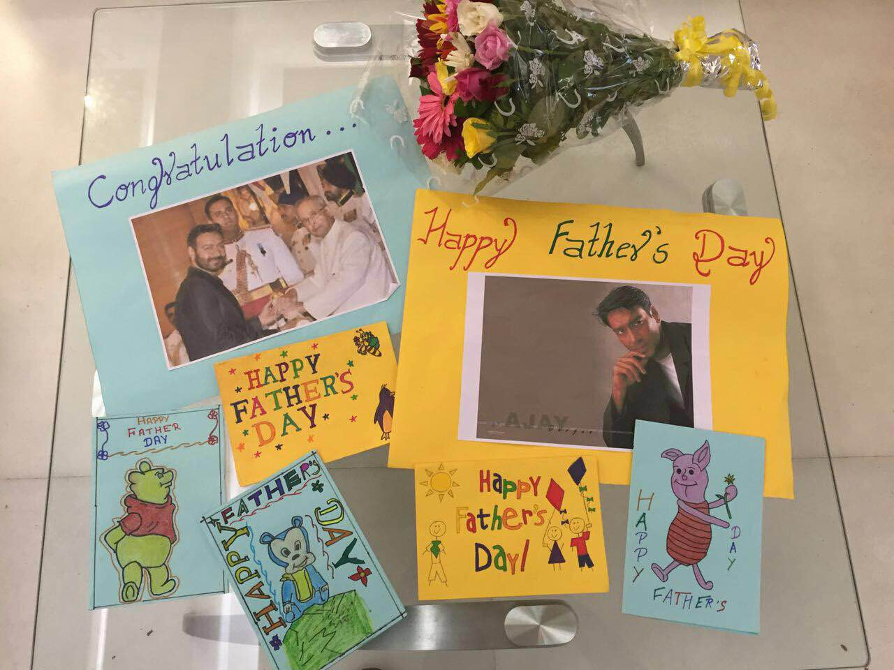 Father's Day card made by Smile Foundation kids