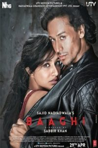 "Poster for the movie ""Baaghi: A Rebel For Love"""