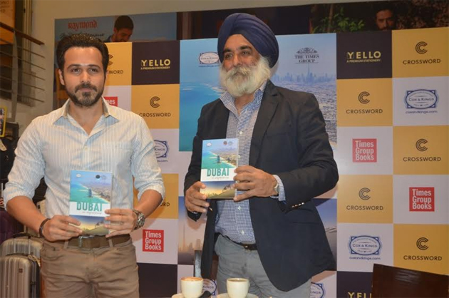 Emraan Hashmi, Actor and Karan Anand, Head, Relationships, Cox & Kings unveil the travel guidebook 'Dubai an experience' at Crosswords, in Mumbai recently. The unique guidebook comprise explored and unexplored facets of Dubai that will appeal to the Indian traveller.