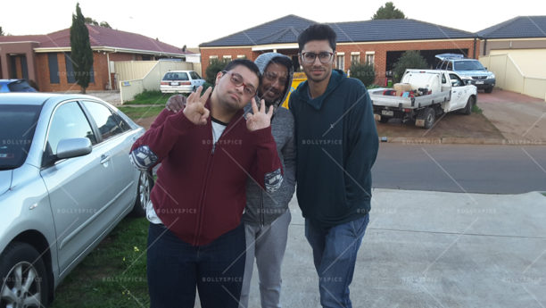 Film maker Onir (center) with Abdullah in Melbourne