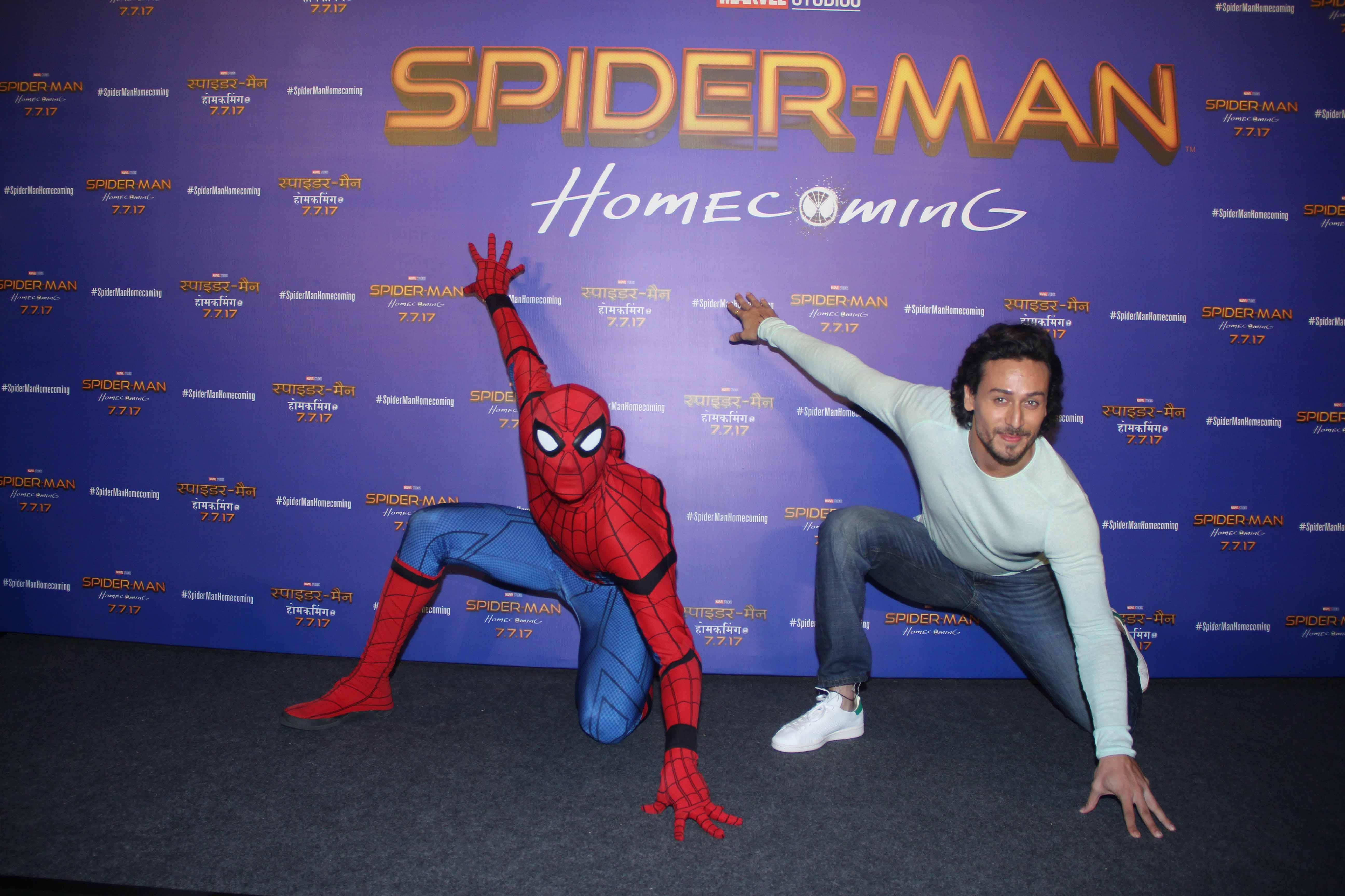 Tiger Shroff Launches Hindi Trailer of 'Spider-Man: Homecoming'