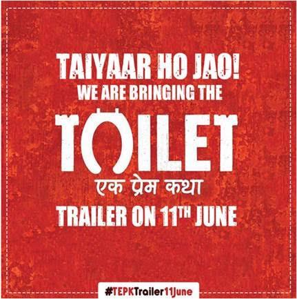 Akshay Kumar's Toilet Ek Prem Katha Gets A Funky New Poster!
