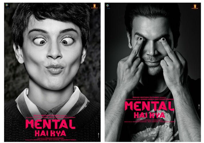 Kangana Ranaut and Rajkummar Rao go insane in Mental Hai Kya poster!