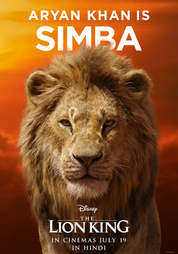 shah rukh khan and aryan are the voices of king mufasa and